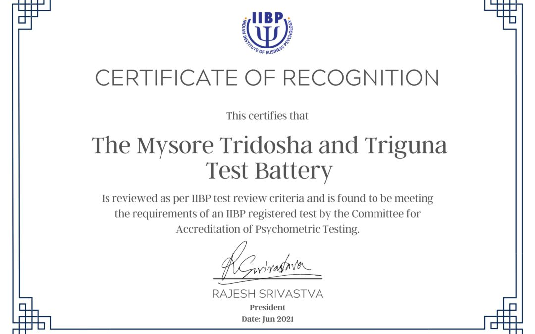 Certificate from the IIBP